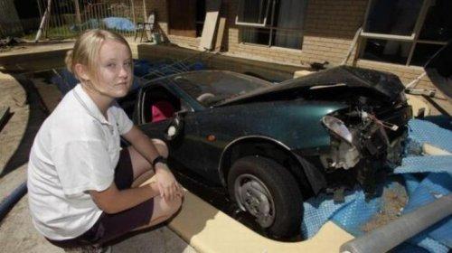Когда за руль садится женщина (31 фото)