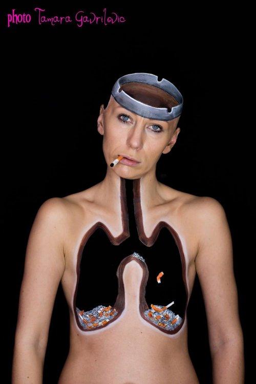 Невероятные иллюзии бодиарт-художницы Мирьяны Кики Милошевич (13 фото)