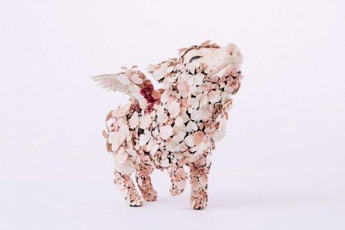 """""""Цветущие"""" металлические скульптуры животных от Тайитиро Ёсиды (8 фото)"""