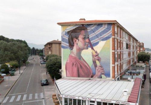 Масштабный стрит-арт уличного художника Aryz (12 фото)