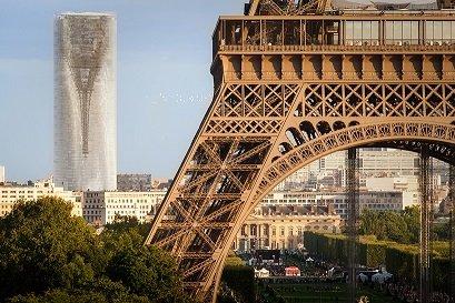 Проект компании MAD Architects позволит превратить уродливую парижскую башню в гигантское зеркало городского масштаба (5 фото + видео)