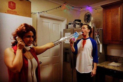 Креативные и прикольные костюмы на Хэллоуин (25 фото)