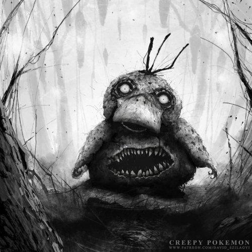 Хоррор-покемоны из сюрреалистических миров Дэвида Шилагий (10 фото)