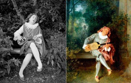 65-летняя фотограф воссоздаёт классические картины со своим участием (12 фото)
