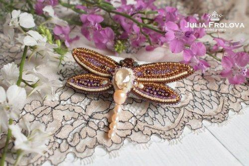 Оригинальные броши в виде насекомых от Юлии Фроловой (18 фото)