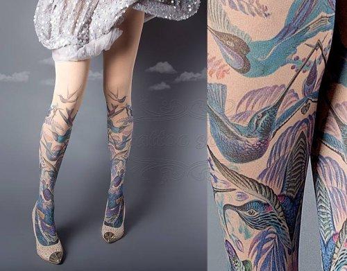 Колготки с имитацией татуировки (14 фото)