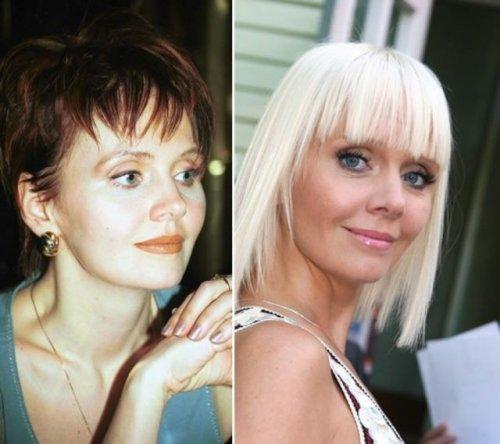 Российские звёзды шоу-бизнеса тогда и сейчас (31 фото)