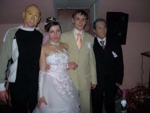 Смешные и прикольные свадебные фотографии (25 шт)