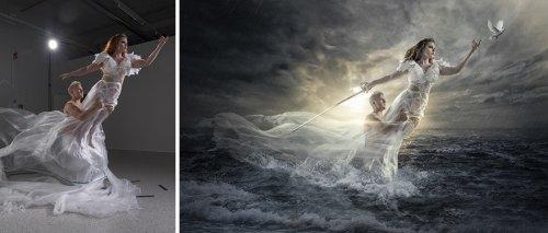 """Снимки """"до и после"""", демонстрирующие, как обычные фотографии превращаются в фантастические миры (15 фото)"""