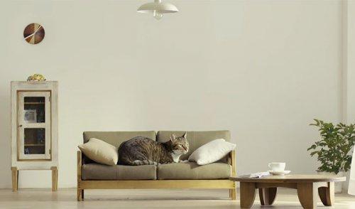 Миниатюрная кошачья мебель от Okawa Kagu (6 фото)