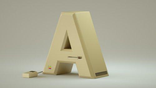 Алфавит из букв, стилизованных под известные гаджеты и устройства (28 фото)