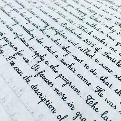 Почерки настоящих перфекционистов (14 фото)
