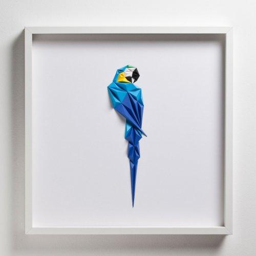 Геометрические красочные птицы из бумаги, созданные турецким художником Тайфуном Тинмазом (10 фото)