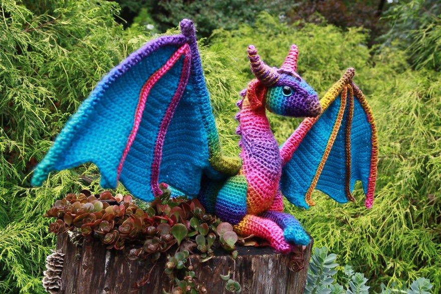 Вязание с дракончиками