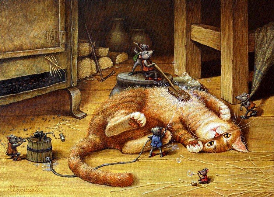 картинки для декупажа кот и мыши всегда