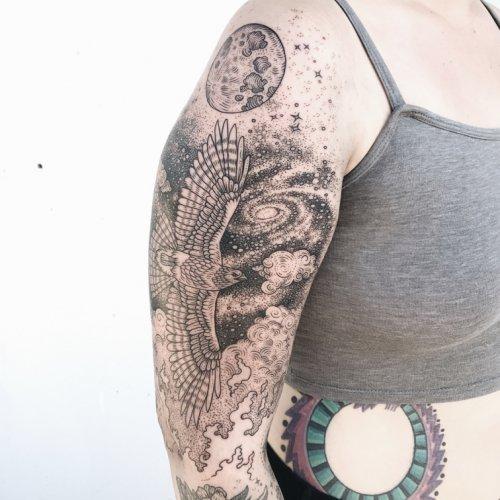 Флора, фауна и космос в татуировках от Пони Рейнхардт (12 фото)