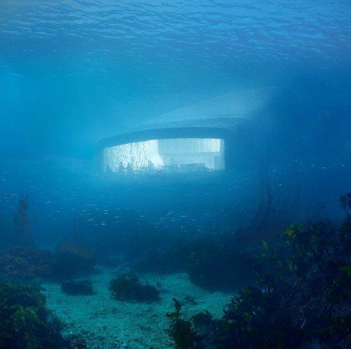 В первом в Европе подводном ресторане вы сможете отобедать на глубине почти 5 метров (5 фото)