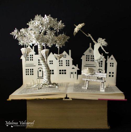 Бумажные скульптуры Малены Валкарсел (24 фото)