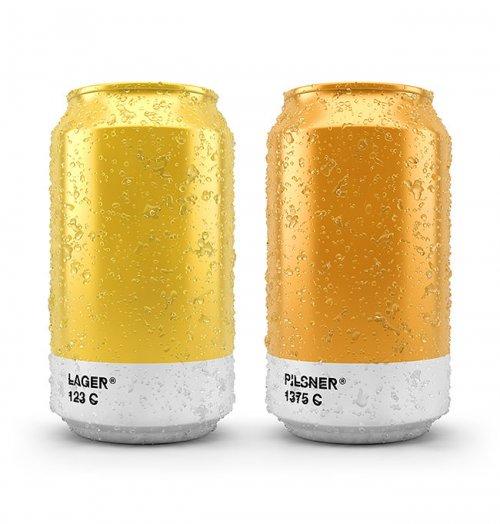 Этикетки на пивные банки и бутылки с оттенками Pantone, соответствующими сорту пива (11 фото)