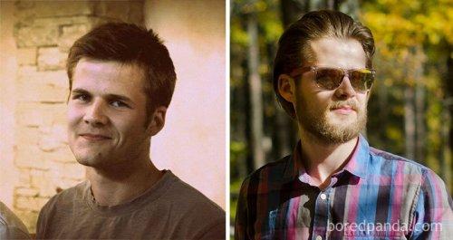 Преображение парней, отрастивших бороду (9 фото)