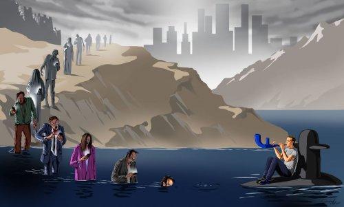 Проблемы современности в сатирических иллюстрациях Гундуза Агаева (9 фото)