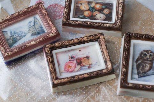 Декоративное мыло в виде акварельных картин от Екатерины Мангорель (12 фото)