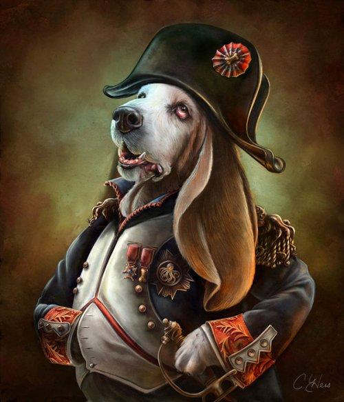 Известные исторические личности в образе собак и кошек (10 фото)
