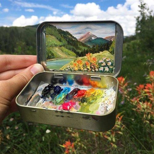 Миниатюрные пейзажи художницы-самоучки Хейди Аннализ (15 фото)