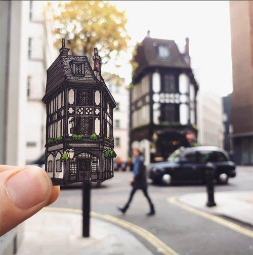 Исторические пабы Лондона в серии работ путешествующего иллюстратора Максвелла Тилса (9 фото)