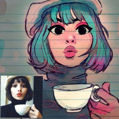 Художник из Сиэтла превращает реальных людей в мультяшных персонажей (20 фото)