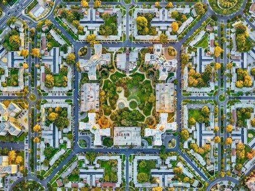 Лос-Анджелес и Нью-Йорк с высоты птичьего полёта в снимках Джеффри Мильштейна (11 фото)