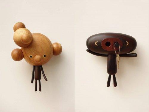 Причудливые мультяшные фигурки, вырезанные из дерева (14 фото)