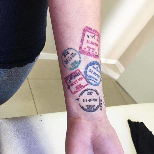 Татуировки для любителей путешествий (27 фото)