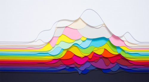 Красочные бумажные 3D-композиции Мод Вантур (10 фото)