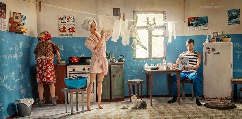 Если бы Барби и Кен жили в СССР (9 фото)