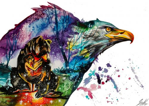 Красочные акварельные рисунки венгерской художницы Вивьен Санисло (15 фото)
