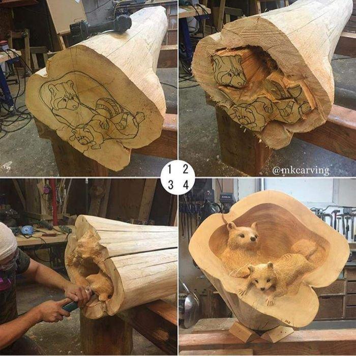Поделки из дерева прикольные своими руками фото 29