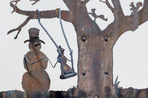 Зимние сцены из старых лопат от Синди Чинн (13 фото)
