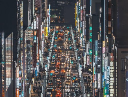 Беспристрастные уличные фотографии Токио от RK (22 фото)