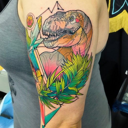 Красочные татуировки Кэти Шокрилас (28 фото)