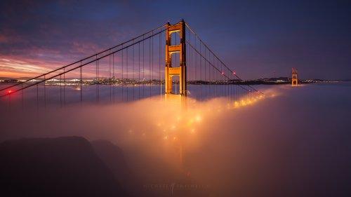 Окутанный туманом Сан-Франциско в фотографиях Майкла Шайнблюма (10 фото)