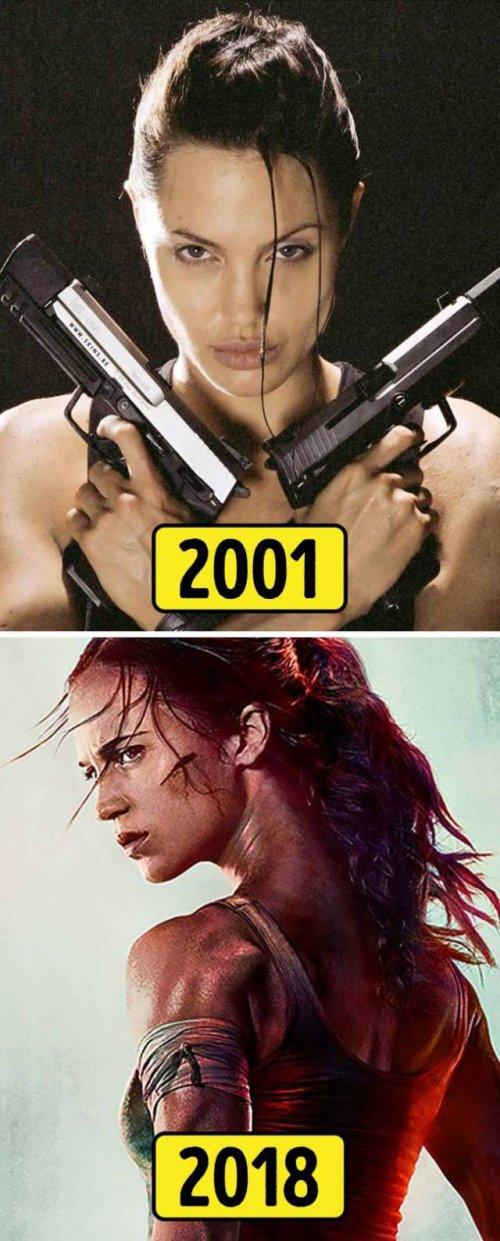 Популярные киноперсонажи тогда и сейчас (14 фото)