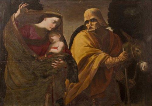 """Персонажи """"Звёздных войн"""" на картинах эпохи Возрождения (8 фото)"""