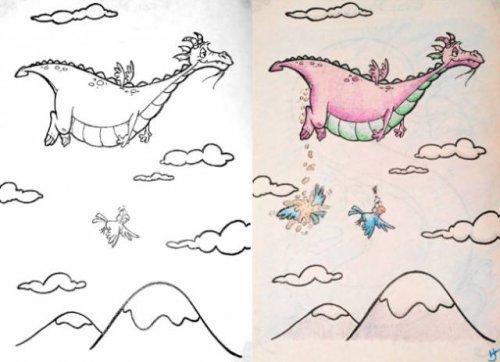 Детские раскраски в руках взрослых перестают быть детскими (23 фото)