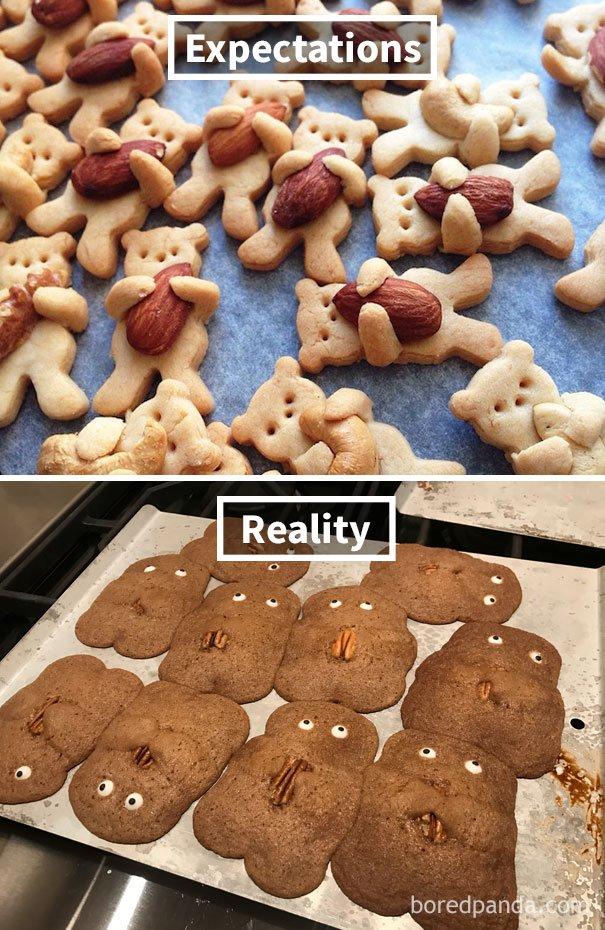 Ожидание реальность еда картинки