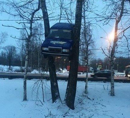 Необычные аварии и впечатляющие ДТП (17 фото)
