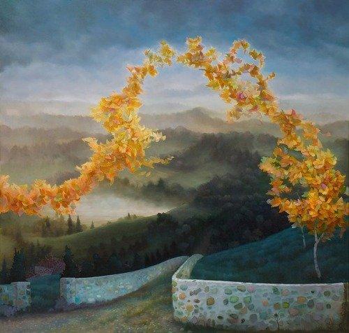 Воображаемые миры в масляных картинах Пола Саари (11 фото)
