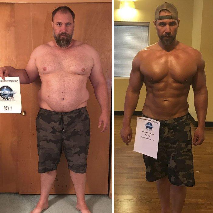 Результат похудения мужчин