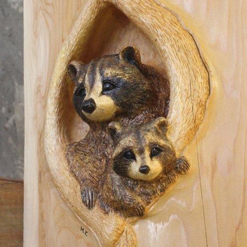 Реалистичные скульптуры животных, вырезанные из дерева (15 фото)