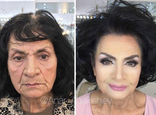 Талантливый визажист из Баку преображает женщин, выглядящих вдвое моложе своего возраста (18 фото)